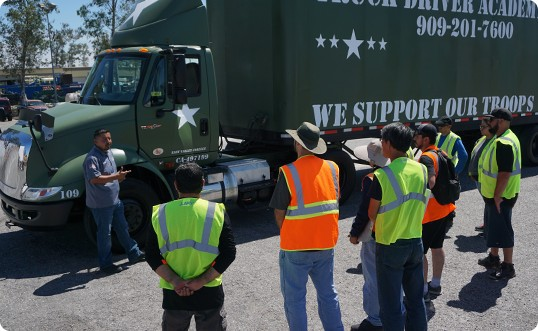 truck driving school in fontana ca students